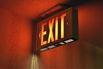board shows exit